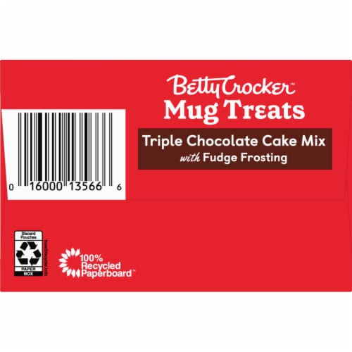 Betty Crocker Triple Chocolate Cake Mug Treat Mix Pouches Perspective: top