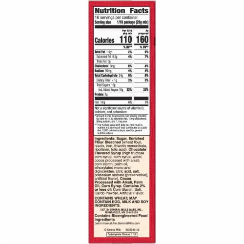 Betty Crocker Delights Supreme Original Brownie Mix Perspective: top