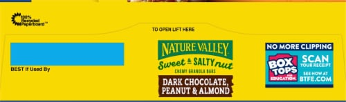 Nature Valley™ Sweet & Salty Nut Dark Chocolate Peanut & Almond Granola Bars Value Pack Perspective: top