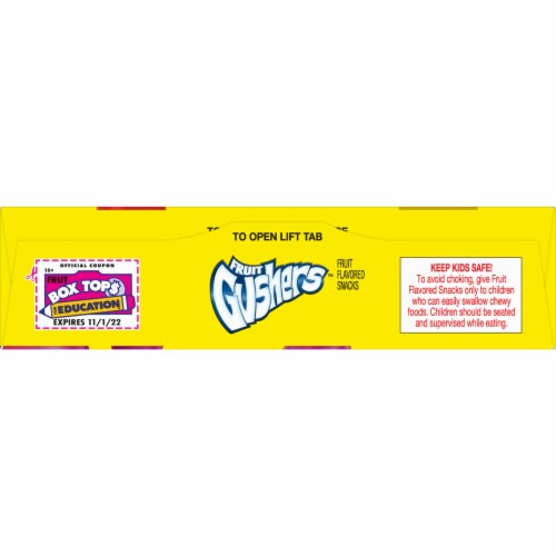 Fruit Gushers Punch Berry Mouth Mixers Fruit Snacks Perspective: top