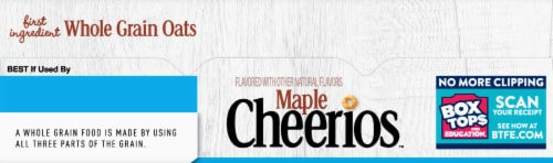 Cheerios™ Gluten Free Maple Whole Grain Oats Cereal Perspective: top