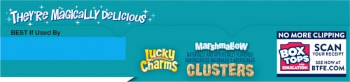 Lucky Charms™ Marshmallow Clusters Cereal Perspective: top