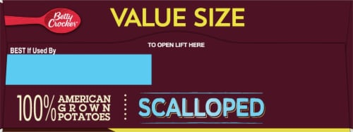 Betty Crocker™ Scalloped Potatoes Value Size Perspective: top