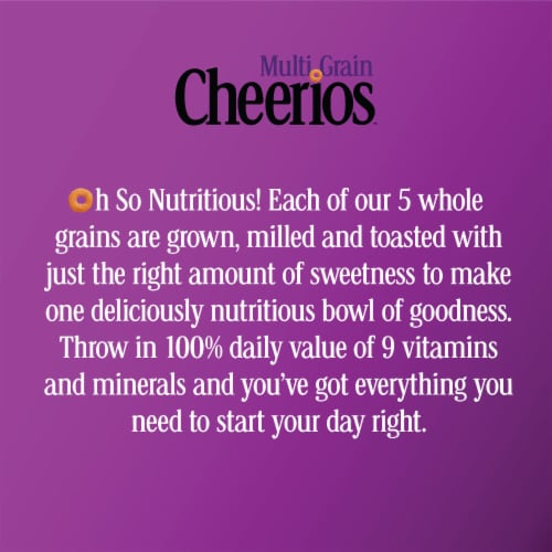 Cheerios Multi-Grain Lightly Sweetened Cereal Perspective: top