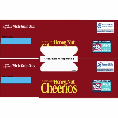 Honey Nut Cheerios Cereal Twin Pack Perspective: top