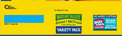 Nature Valley™ Peanut & Almond Variety Pack Sweet & Salty Nut Granola Bars Perspective: top