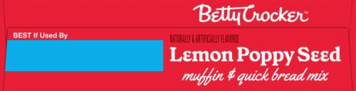 Betty Crocker Lemon Poppy Seed Muffin Mix & Quick Bread Mix Perspective: top
