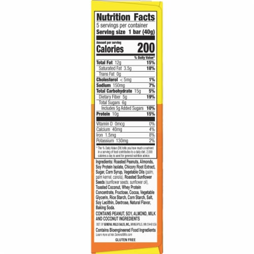 Nature Valley Peanut Almond & Dark Chocolate Protein Chewy Bars 5 Count Perspective: top
