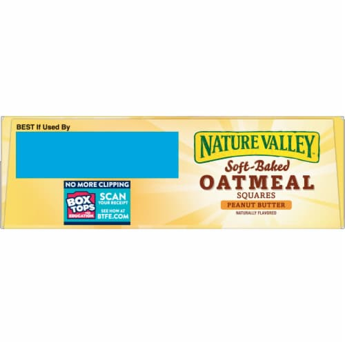 Nature Valley Soft Baked Peanut Butter Oatmeal Squares Perspective: top
