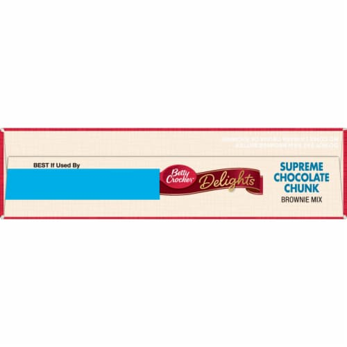Betty Crocker Delights Supreme Chocolate Chunk Brownie Mix Perspective: top