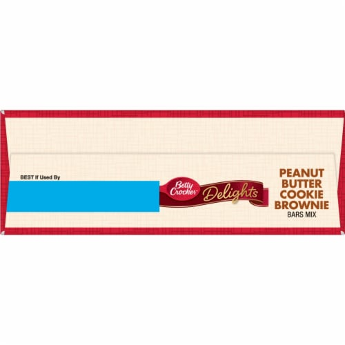 Betty Crocker Delights Peanut Butter Cookie Brownie Bars Mix Perspective: top