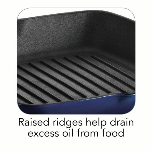 Tramontina Gourmet Cast Iron Grill Pan - Gradated Cobalt Perspective: top