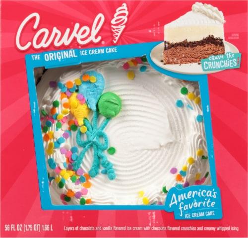 Carvel Round Happy Birthday Celebration Ice Cream Cake Perspective: top