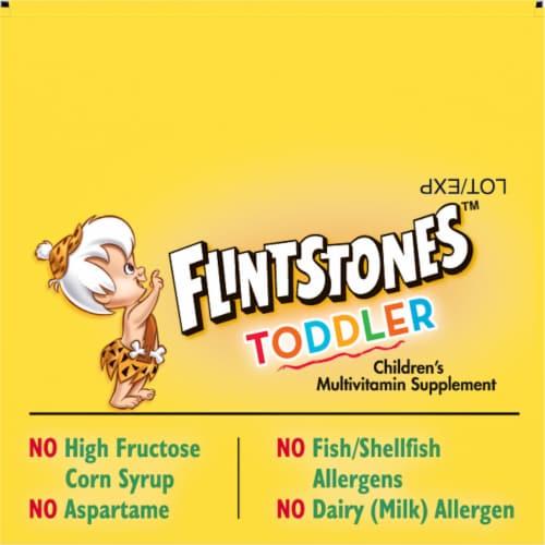 Flintstones Chewable Toddler Multivitamin Chewable Tablets 80 Count Perspective: top