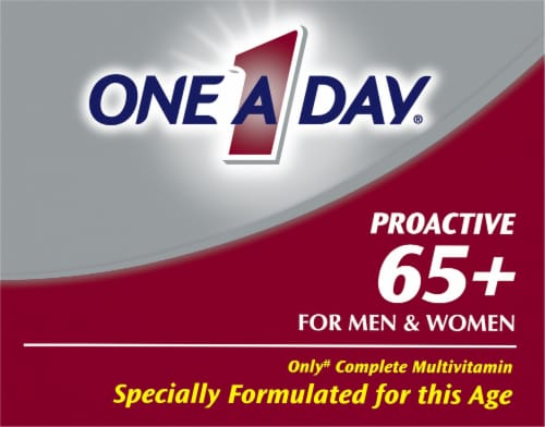 One A Day® Proactive 65+ for Men & Women Multivitamin Tablets Perspective: top