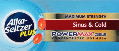 Alka-Seltzer Plus Sinus & Cold PowerMax Gels Perspective: top