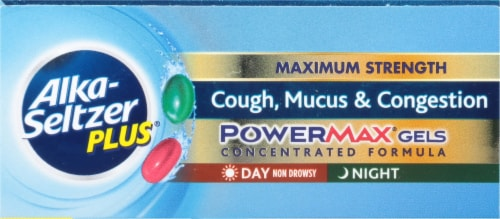 Alka Seltzer Plus® Day and Night Cough Mucus & Congestion Power Max Liquid Gels Perspective: top