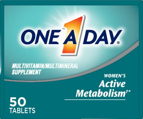 One A Day Womens Active Metabolism Tablets Perspective: top