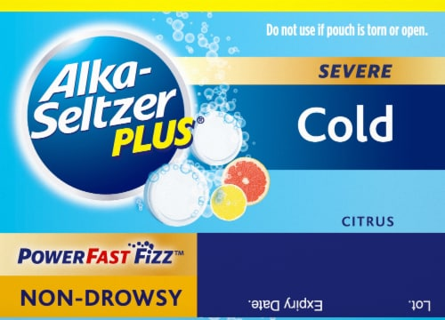 Alka-Seltzer Plus® Citrus Severe Cold Relief Tablets 20 Count Perspective: top