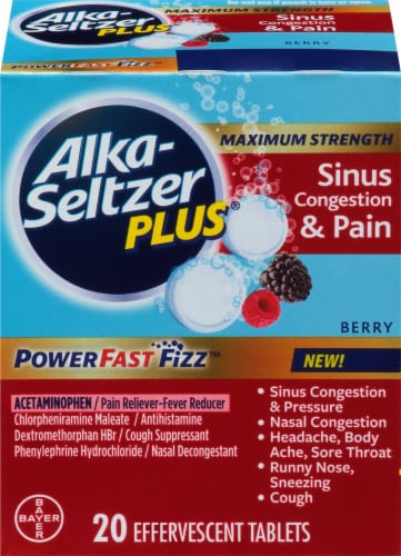 Alka-Seltzer Plus® Berry Max Strength Sinus Congestion & Pain Perspective: top