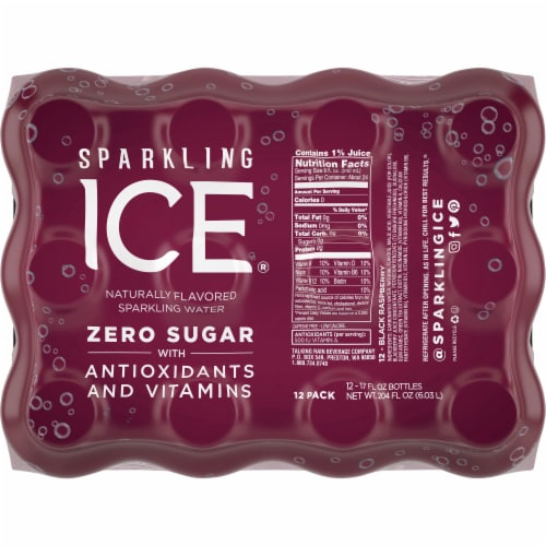 Sparkling Ice Black Raspberry Sparkling Water Perspective: top