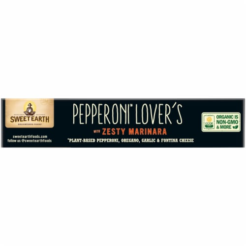 Sweet Earth Pepperoni Lover's Plant-Based Pepperoni Pizza Perspective: top