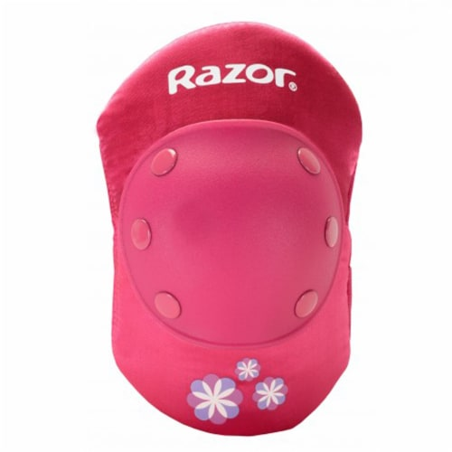 Razor 96783 Child Youth Kids Bike Elbow & Knee Pad Safety Set, Sweet Pea Pink Perspective: top