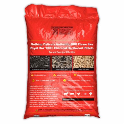 Royal Oak 100 Percent Hardwood Charcoal Pellets for BBQ Grilling, 30 Pound Bag Perspective: top