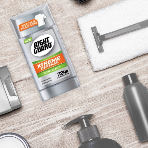 Right Guard Xtreme Defense 5 Fresh Blast Deodorant Stick Perspective: top