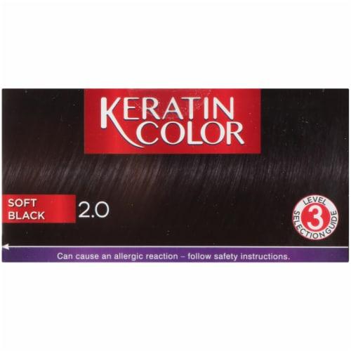 Schwarzkopf® Keratin Color 2.0 Soft Black Permanent Hair Color Perspective: top