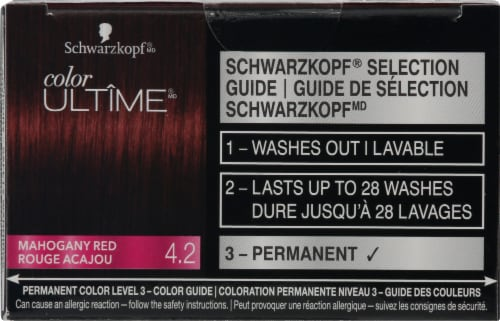 Schwarzkopf® Color Ultime® 4.2 Mahogany Red Permanent Hair Color Perspective: top