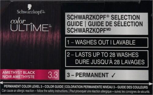 Schwarzkopf® Color Ultime® 3.3 Amethyst Black Permanent Hair Color Perspective: top