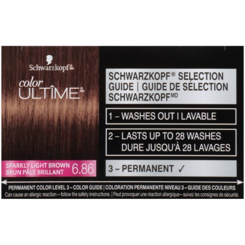 Schwarzkopf® Color Ultime® 6.86 Sparkly Light Brown Permanent Hair Color Perspective: top