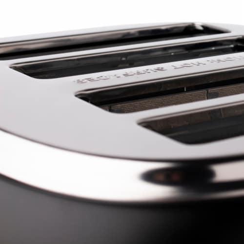 Haden Heritage 4-Slice Toaster - Black/Copper Perspective: top