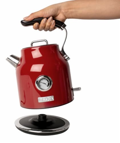 Haden Dorset Stainless Steel Cordless Electric Kettle - Red Perspective: top