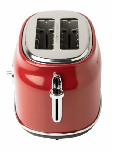 Haden Dorset Stainless Steel 2-Slice Toaster - Red Perspective: top