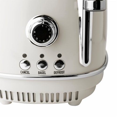 Haden Heritage Stainless Steel 2-Slice Toaster - Ivory White Perspective: top