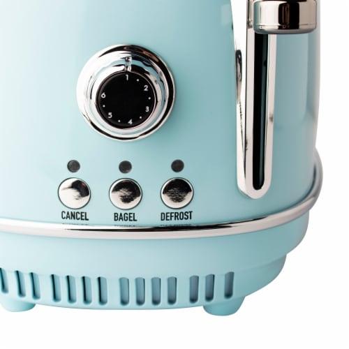 Haden Heritage 2-Slice Wide Slot Toaster - Turquoise Perspective: top