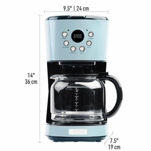 Haden Heritage Programmable Coffee Maker - Turquoise Perspective: top