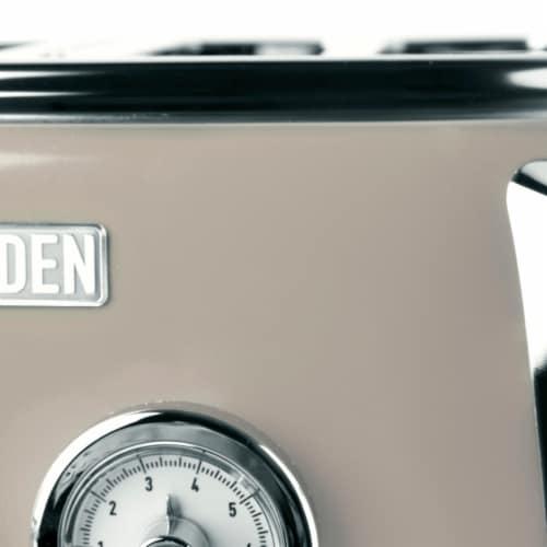 Haden Dorset 4-Slice Toaster - Putty Perspective: top