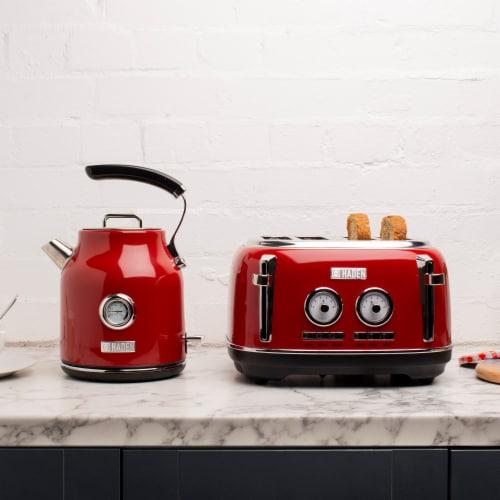 Haden Dorset 4-Slice Toaster - Red Perspective: top