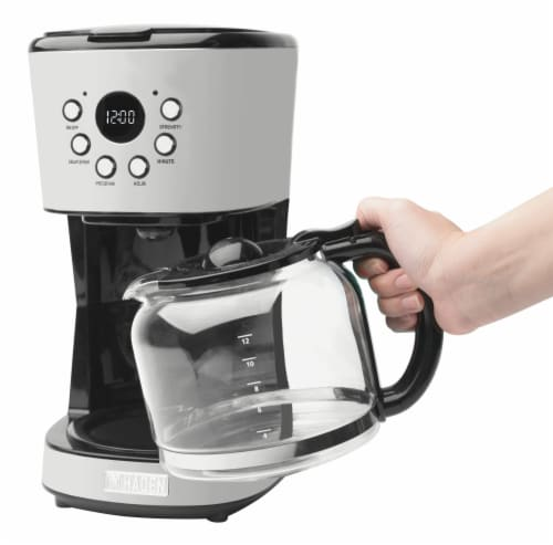 Haden Heritage Programmable Coffee Maker - Ivory White Perspective: top