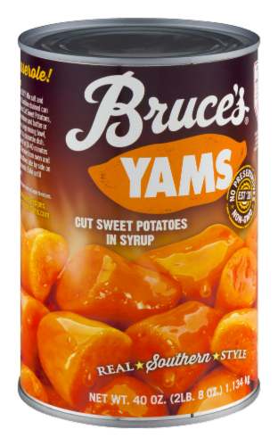 Bruce's Cut Yams in Syrup Perspective: top