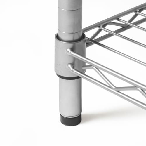 Seville Classics 4-Tier Steel Wire Shelving, Silver Perspective: top