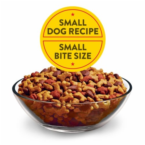 Dog Chow Little Bites Real Chicken & Beef Adult Dry Dog Food Perspective: top