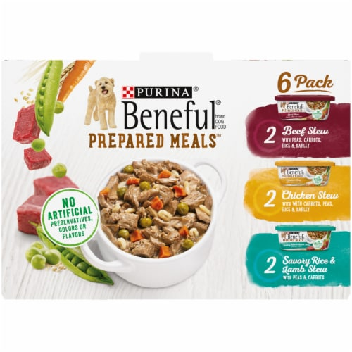 Beneful Prepared Meals Wet Dog Food Variety Pack Perspective: top