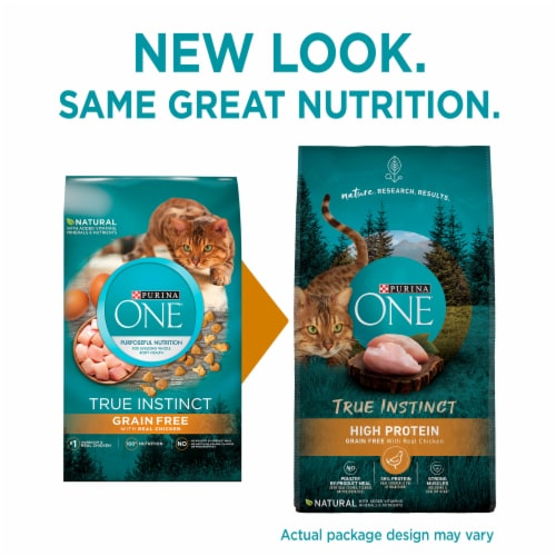 Purina ONE® True Instinct Grain Free with Real Chicken Natural Dry Cat Food Perspective: top