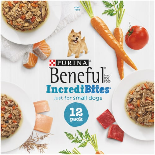 Beneful IncrediBites Small Breed Wet Dog Food Variety Pack Perspective: top