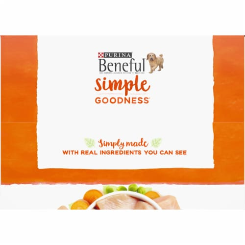 Beneful Simple Goodness Chicken Dog Food Pouches Perspective: top