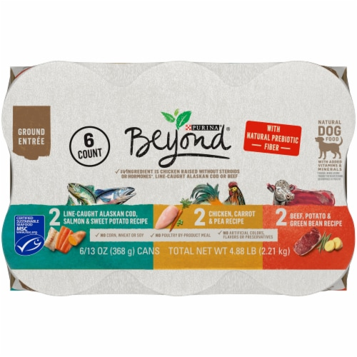 Beyond Grain Free Ground Entree Natural Pate Wet Dog Food Variety Pack Perspective: top